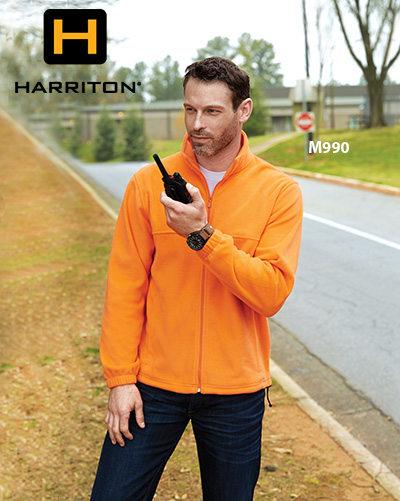 Harriton M990 Men's 8 Oz. Full Zip Fleece