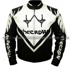 Black & White The Crow Biker Leather Jacket