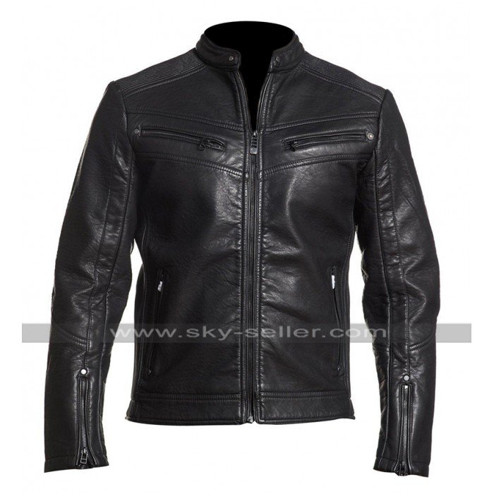 Cafe Racer Law Breaking Vintage Biker Black Motorcycle Leather Jacket