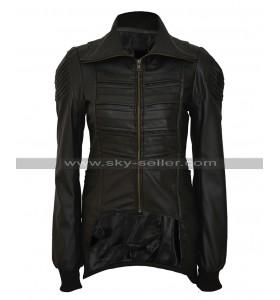 Catwoman Selina Kyle Gotham Camren Bicondova Black Biker Leather Jacket