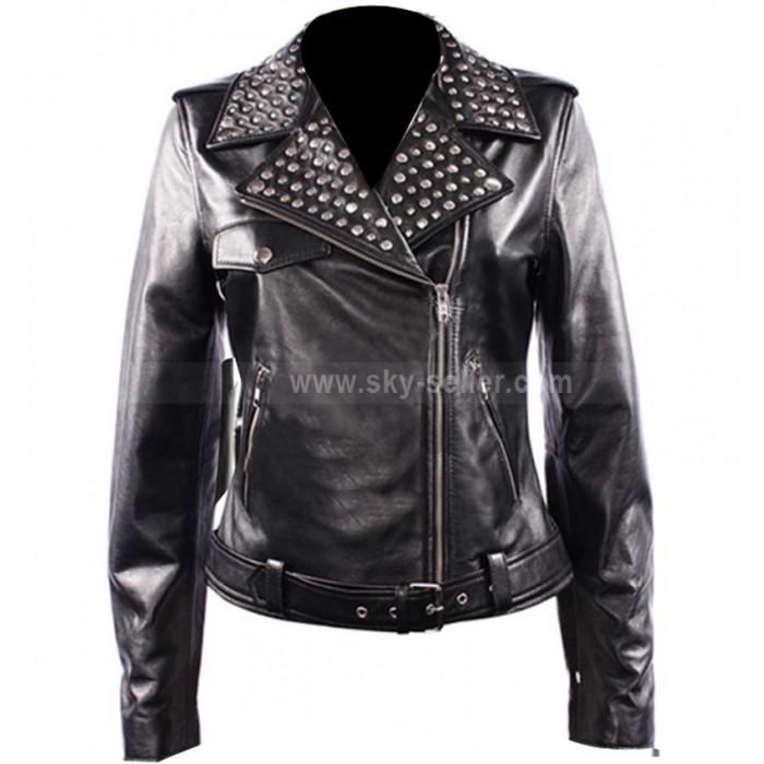 Domino Harvey Keira Knightley Domino Motorcycle Leather Jacket
