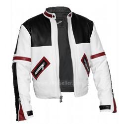 Chaser Box Black & White Biker Style Leather Jacket