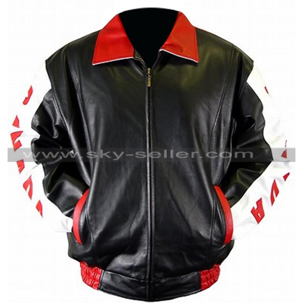 Men's Canadian Flag Bomber Leather Jacket