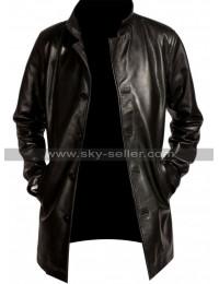 Fringe Joshua Jackson (Peter Bishop) Black Leather Coat