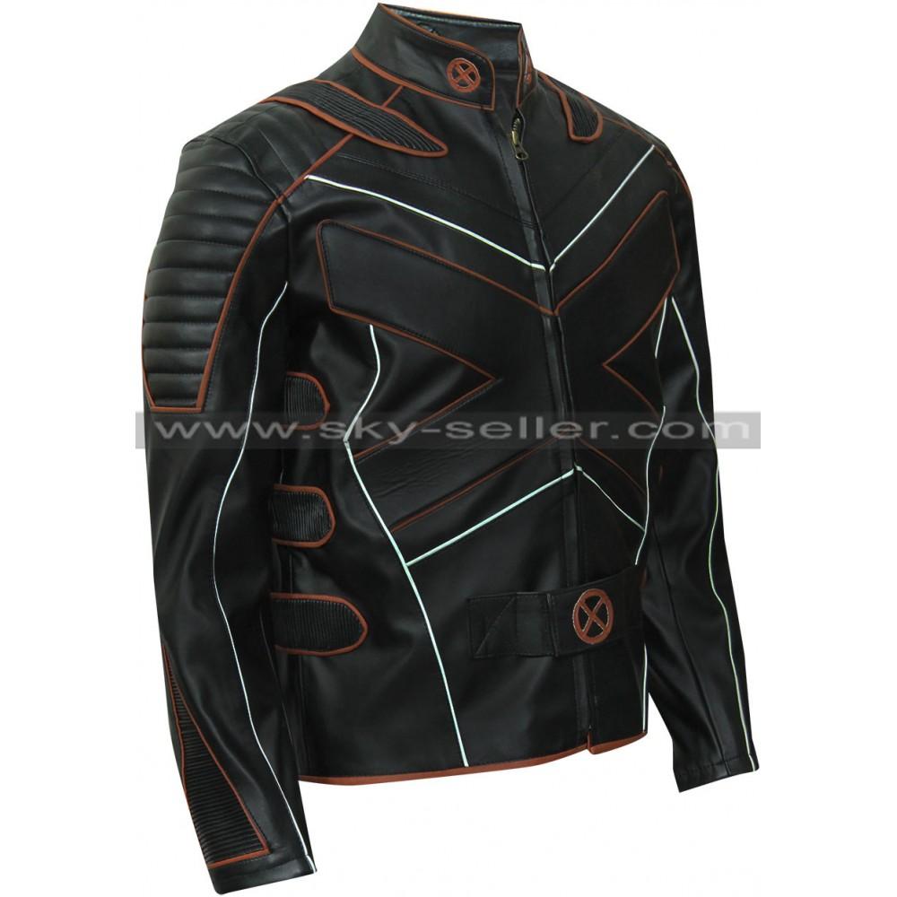 X men leather jacket
