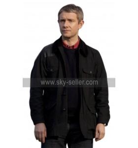Sherlock Dr John Watson (Martin Freeman) Black Cotton Jacket