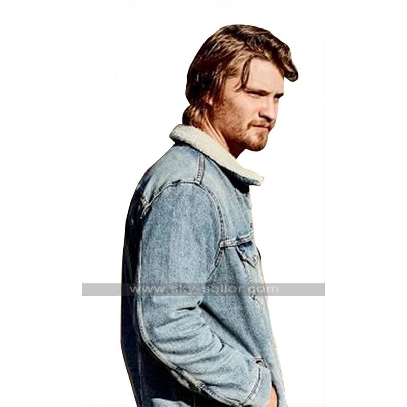 Yellowstone Kayce Dutton Luke Grimes Fur Collar Denim Jacket