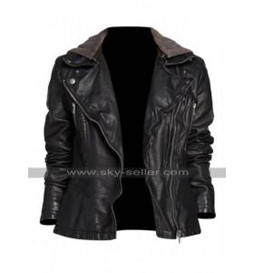 Alex Parrish Quantico Priyanka Chopra Hooded Black Leather Jacket