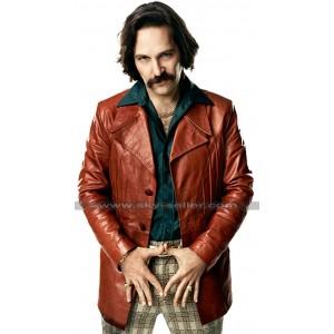 Brian Fantana Anchorman 2 Paul Rudd Brown Leather Coat