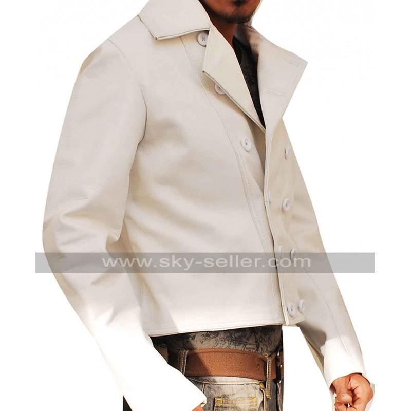 Charlie PrinceTo Yuma Ben Foster White Leather Jacket