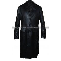 David Boreanaz Angel Black Leather Trench Coat