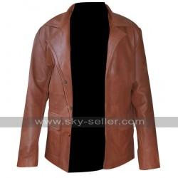 Johnny Depp Donnie Brasco Brown Leather Blazer