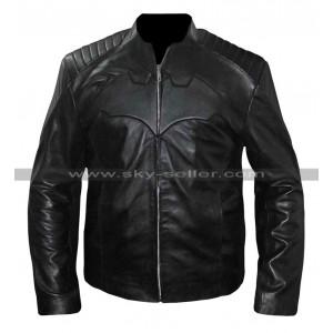 Batman Begins Christian Bale Motorcycle Leather Street Jacket