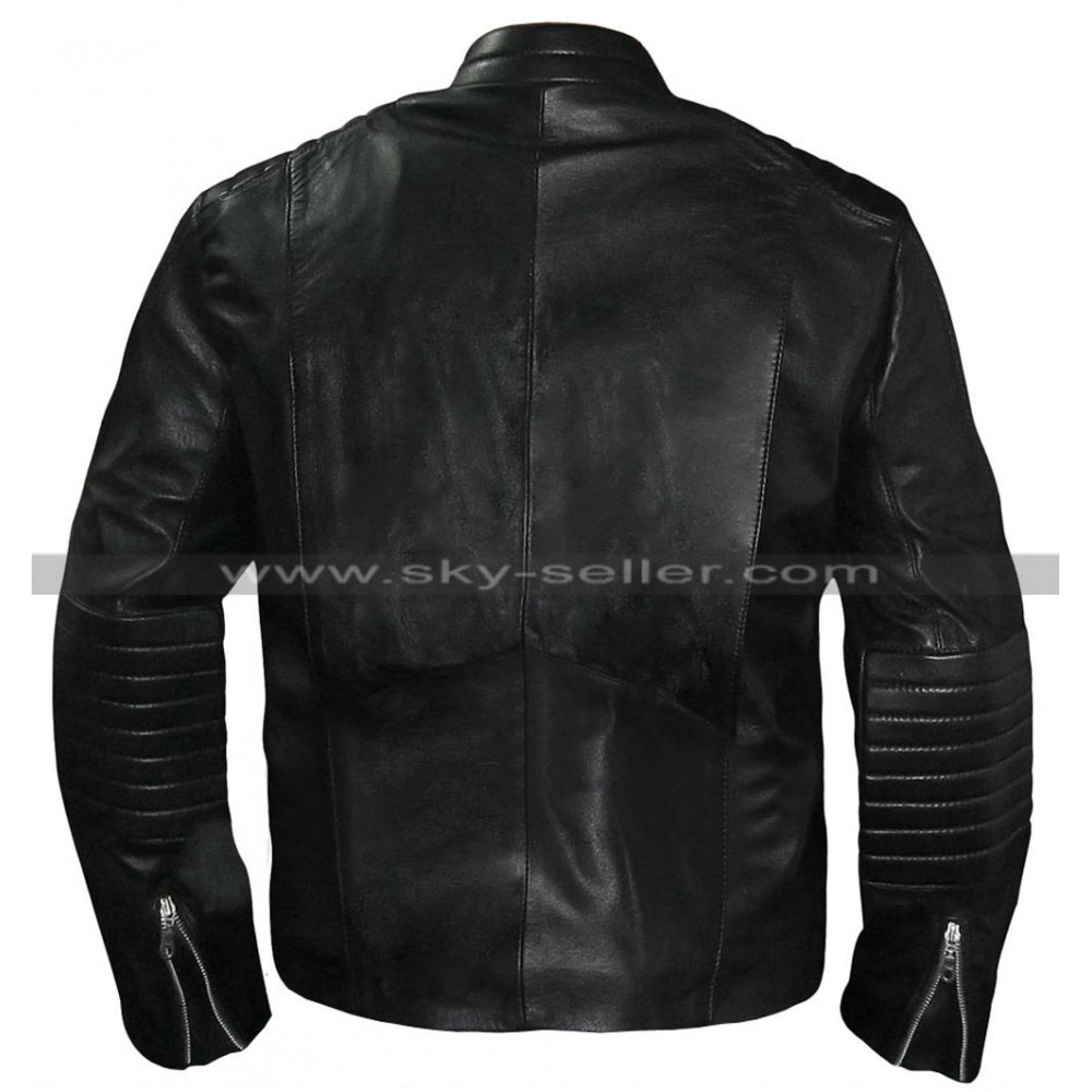 Batman leather motorcycle jacket