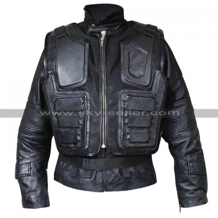 Judge Dredd 3D Karl Urban Black Leather Jacket