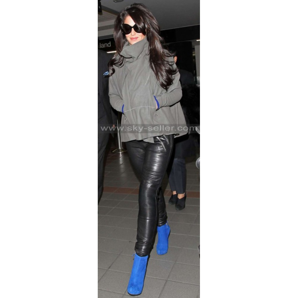 Cheryl Cole Slimfit Black Leather Pants