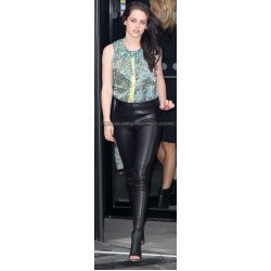 Kristen Stewart Skinfit Black Leather Pants