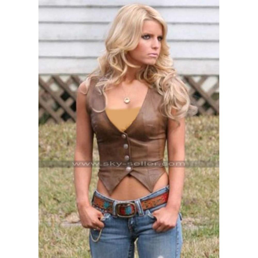 Daisy Dukes of Hazzard Jessica Simpson Leather Vest