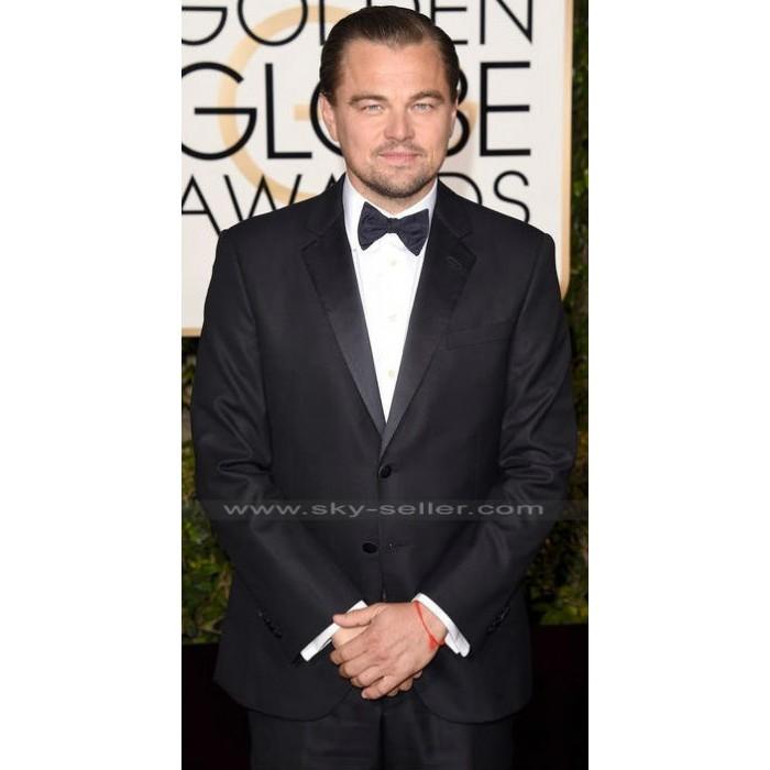 Leonardo Dicaprio Oscar 2016 Black Suit