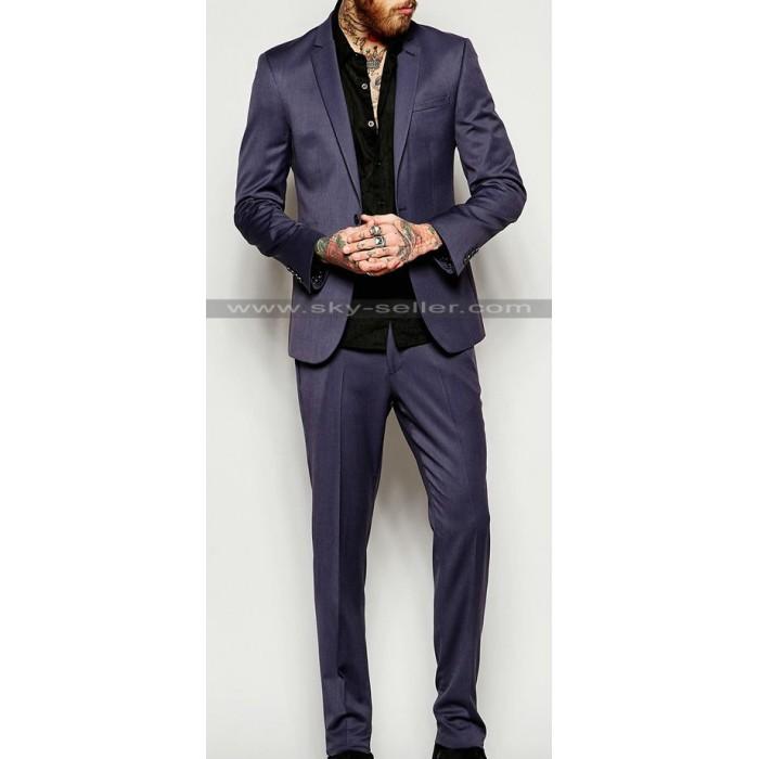 Men Skinny Suit in Grey