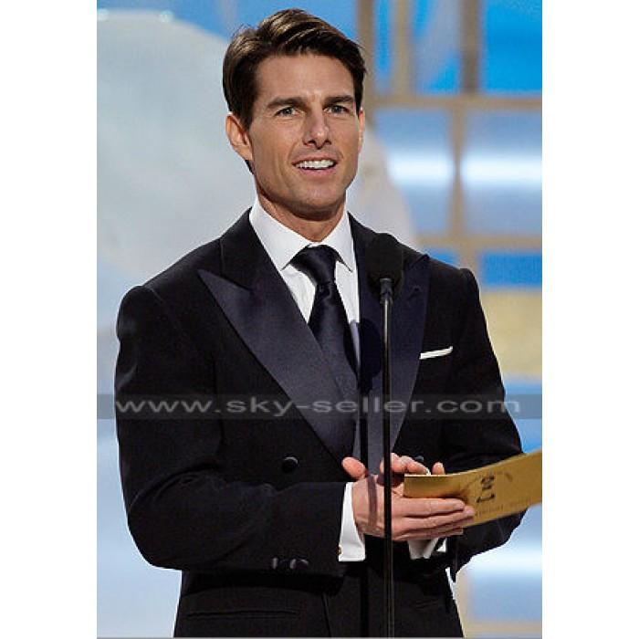 Tom Cruise Double Breasted Black Tuxedo Suit