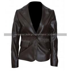 Black Widow Captain America Winter Soldier Leather Blazer