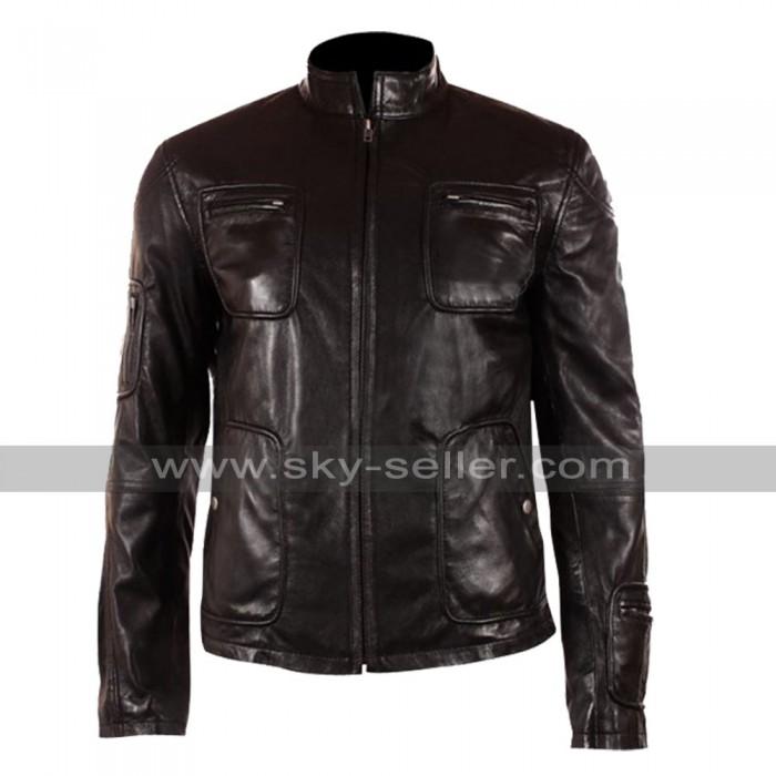Chris Pine Star Trek James T. Kirk Black Leather Jacket