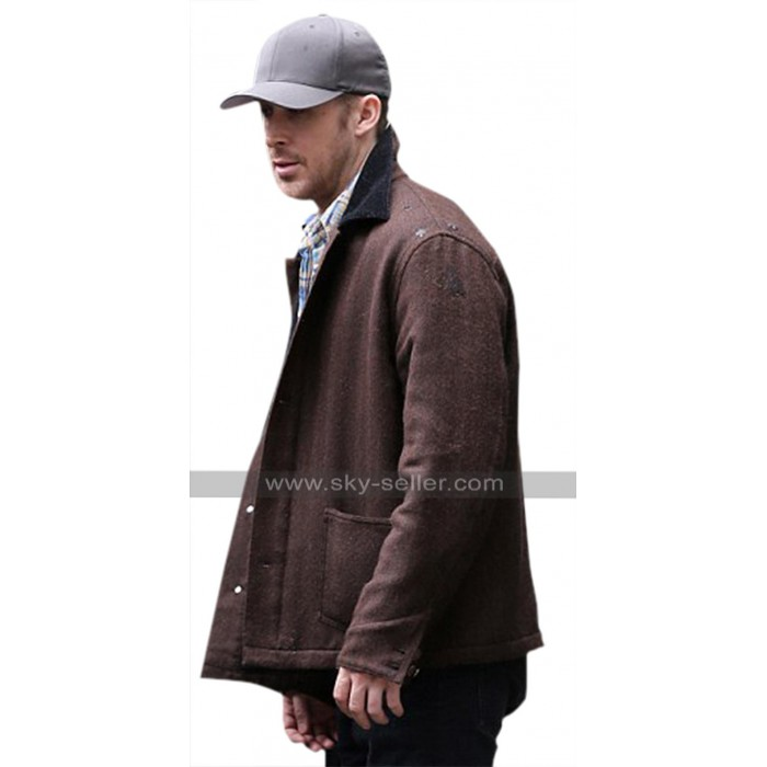 Neil Armstrong First Man Ryan Gosling Brown Wool Jacket