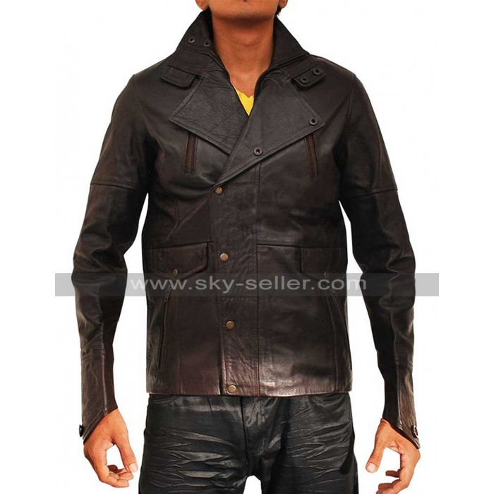 Paris with Love John Travolta (Charlie Wax) Leather Jacket