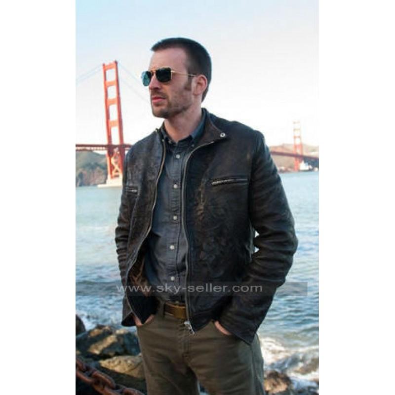 Chris evans leather jacket
