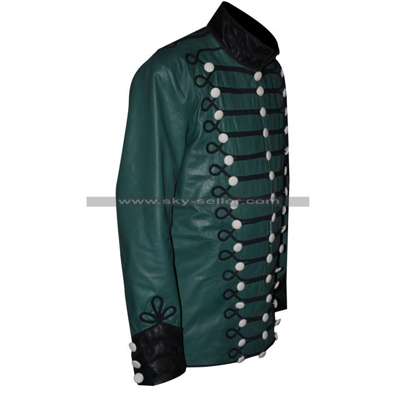 Rifles Sean Bean Green Military Leather Jacket
