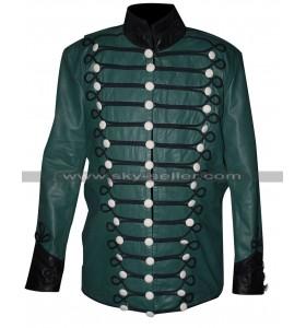 Sharpe's Rifles Sean Bean Green Military Leather Jacket