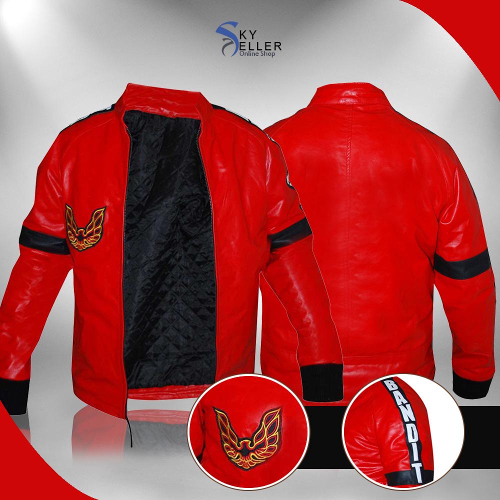 Smokey and the Bandit Burt Reynolds Red Bomber Jacket