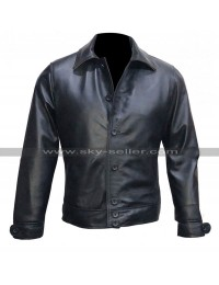 Whiskey Kingsman The Golden Circle Pedro Pascal Black Leather Jacket