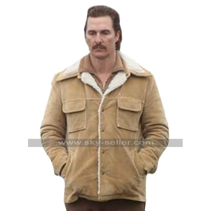 White Boy Rick Matthew McConaughey Brown Fur Collar Corduroy Jacket
