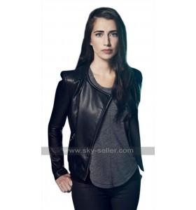 Beyond TV Series Willa (Dilan Gwyn) Round Collar Black Leather Jacket