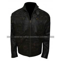 Dominion Alex Lannen (Christopher Egan) Distressed Black Jacket