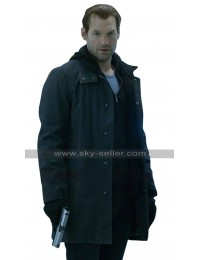 Ephraim Goodweather The Strain Corey Stoll Black Cotton / Leather Coat