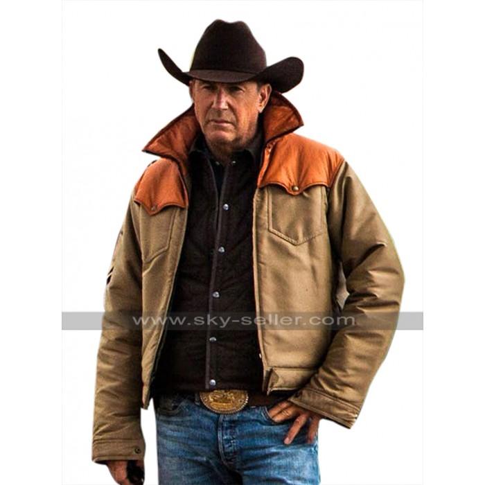 Kevin Costner Yellowstone John Dutton Vest Leather / Cotton Jacket