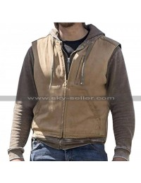 Luke Grimes Yellowstone Kayce Dutton Brown Cotton Vest