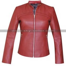 San Andreas Blake (Alexandra Daddario) Red Leather Jacket