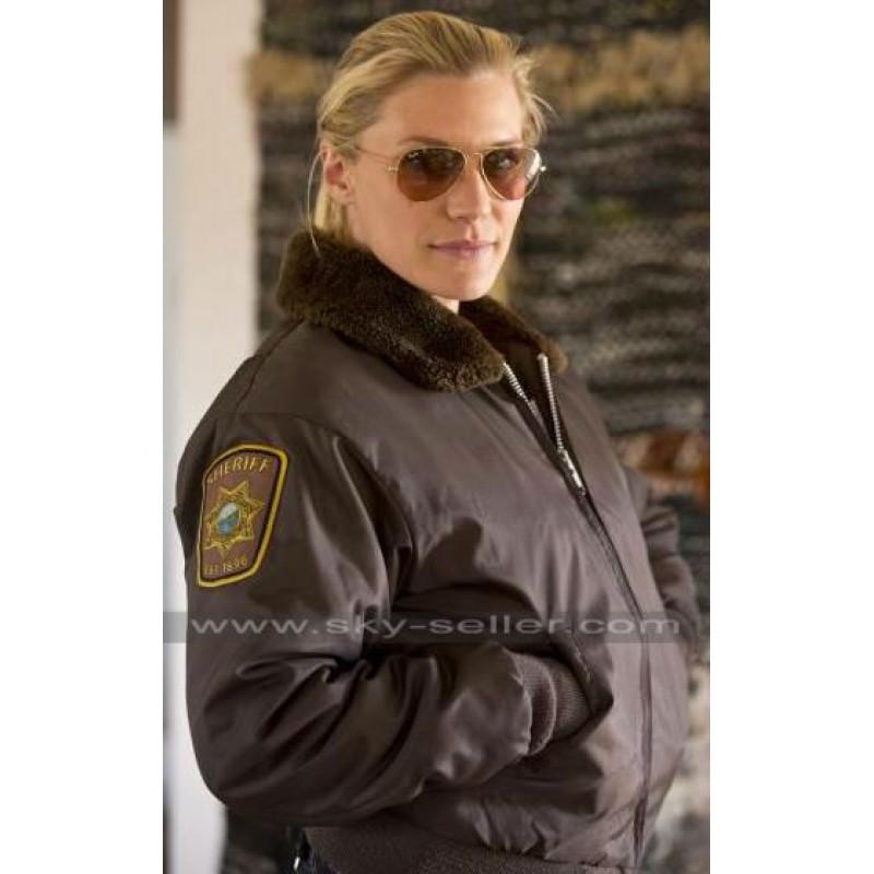 Victoria Moretti Longmire Fur Collar Bomber Jacket