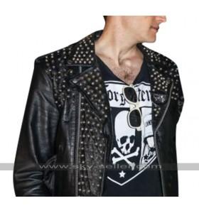 Bomb City Movie Dave Davis Brian Black Riveted Leather Jacket