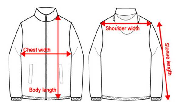Jacket size chart - How to measure. Chest. Place tape under arm and measure around the fullest part of your chest. Waist. Measure around your natural waistline. Size Chest Waist Weight: Inch Inch Lbs XXS / 1: 28/33 28/