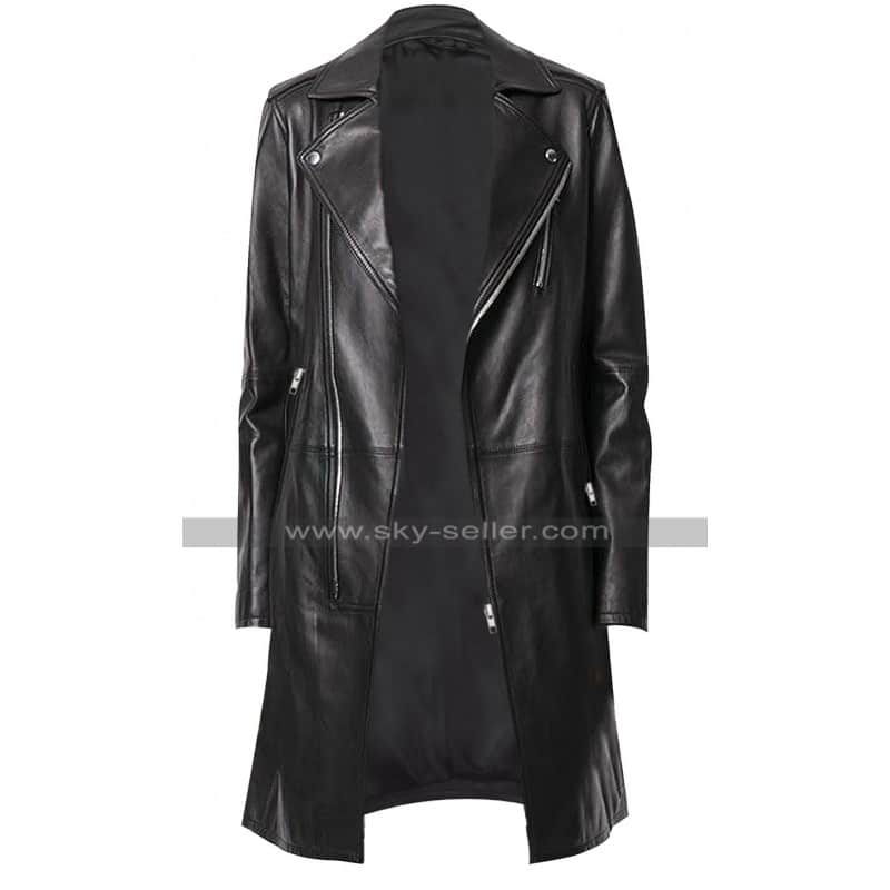 Women_Slim_Fit_ Black_Leather_Trench_Coat