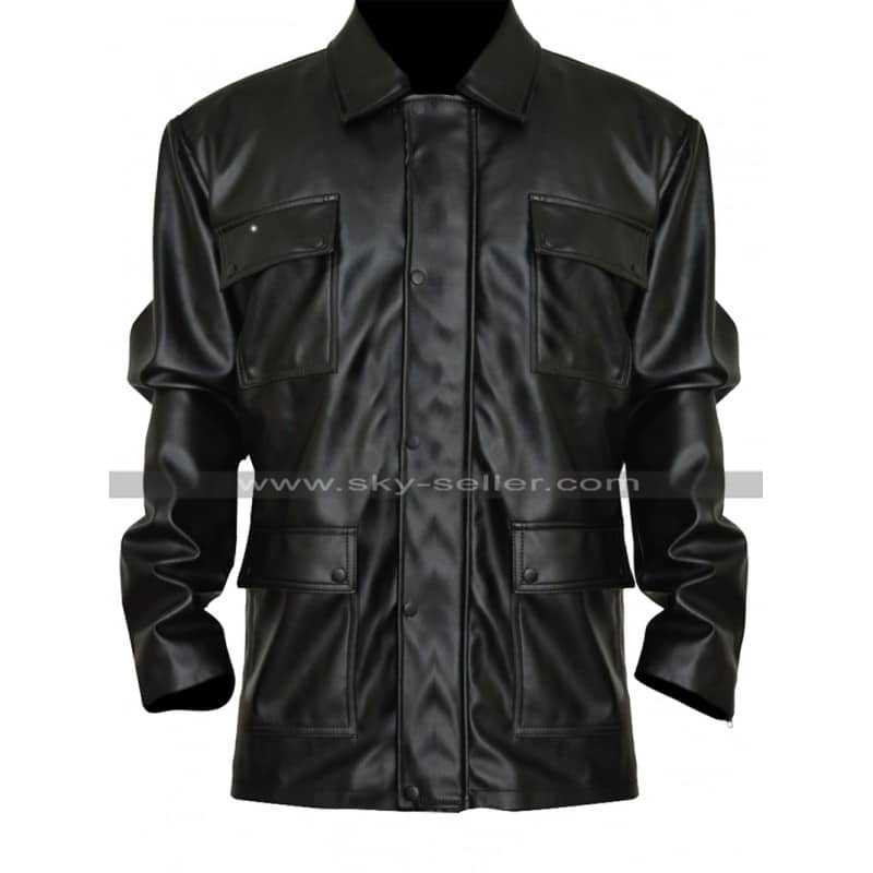 Bryan_Mills_Taken_3_Black_Biker_Jacket