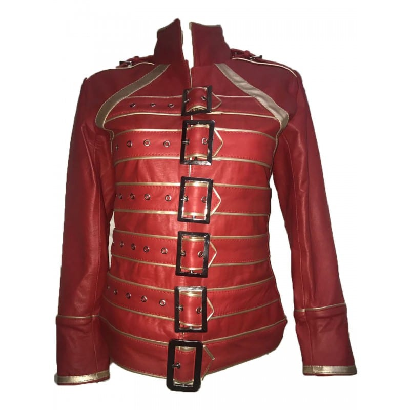 Freddie_Mercury_Womens_Red_Leather_Jacket
