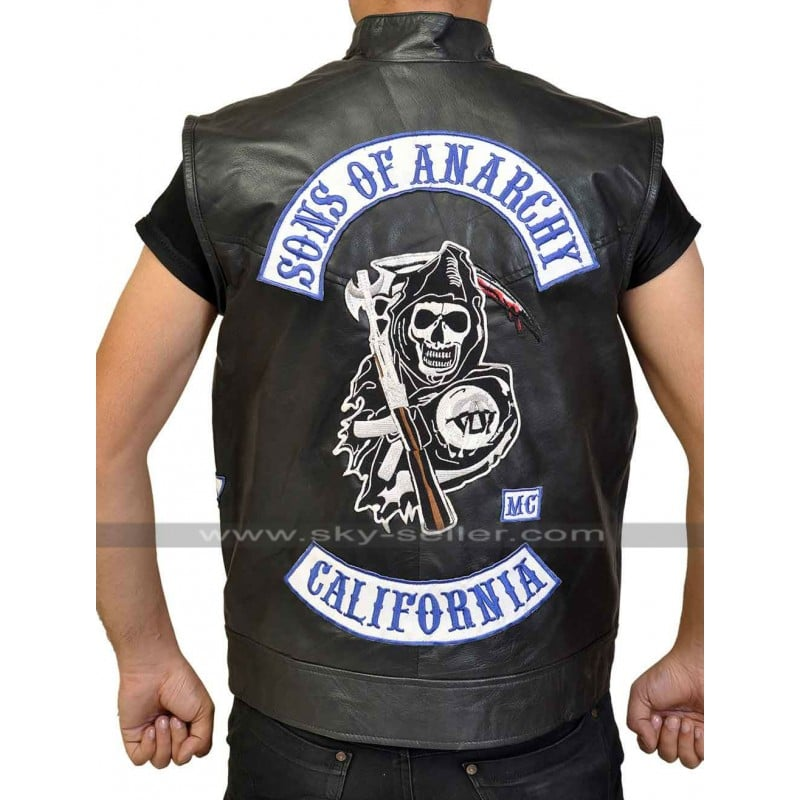 Easter Sale Sons Of Anarchy Jax Teller Biker Vest With Patches