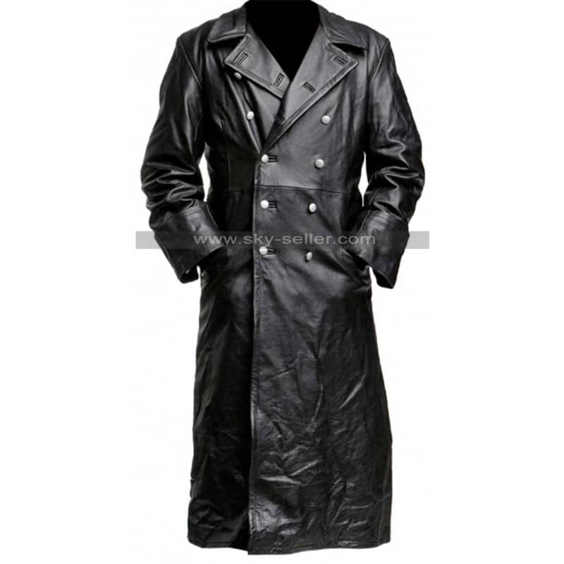 German_Classic_Officer_WWII_Black_Leather_Trench_Coat