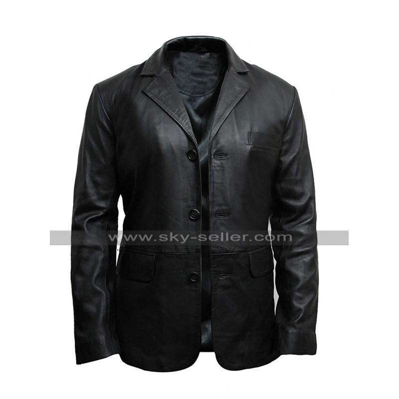 Mens_Black_Leather_Coat_Slim_Fit_Blazer